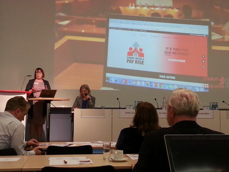Esther Lynch vom Europäischen Gewerkschaftsbund