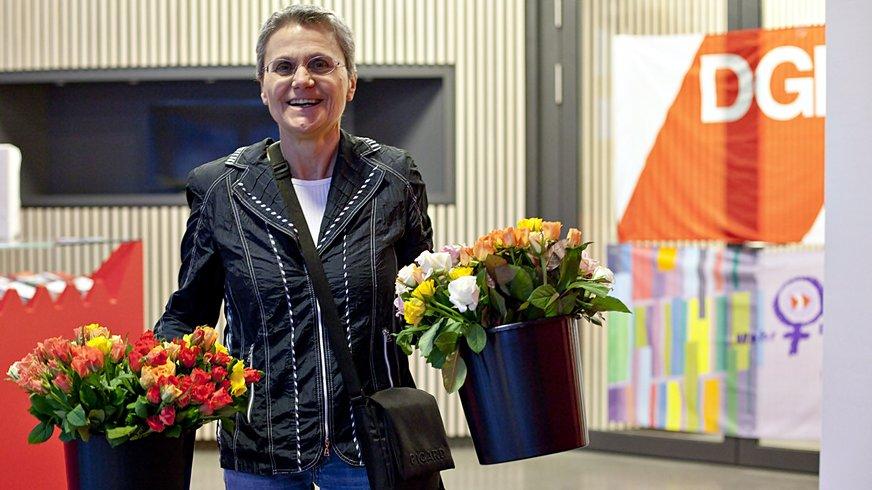 Frauen Aktion Frauentag Blumen