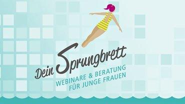 "Logo ""Sprungbrett"": Beratung & Seminare für junge Frauen"