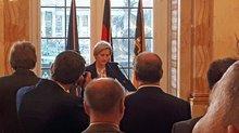 Die Ministerin bei ihrer Ansprache