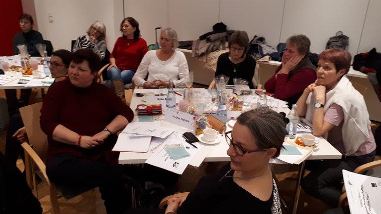 Der Landesfrauenrat auf der Sitzung am 1.12.2017