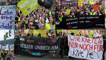 Collage aus Protestbildern