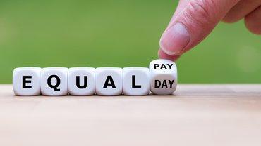 Equal Pay Day Schriftzug