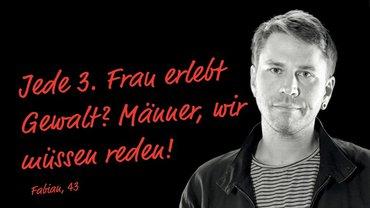 """Fabian, 43   Plakat zur Kampagne """"Männlichkeit entscheidest Du"""" (1600x900)"""