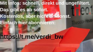 Telegram-Kanal von ver.di Baden-Württemberg jetzt abonnieren!