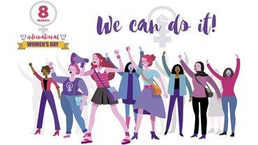 Frauentag 8. März IFT Illustration Protest